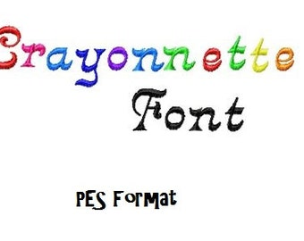 Bogo Free Font, Buy 1 take 1 font, Buy One Take one Font, Crayonnette Embroidery Font, Instant Download, PES Format