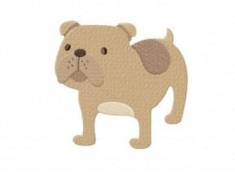 Bulldog Embroidery Design Stitch Instant Download
