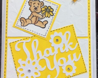 SALE 50% OFF - Thank You Card - Choose from Several Cute Handmade Thank You Cards