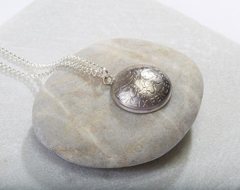 Sixpence Necklace Domed