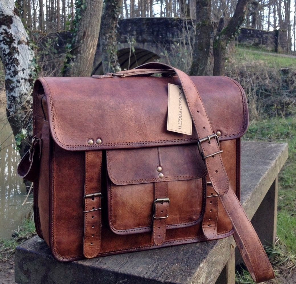 Leather satchel | Etsy