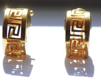 Vintage hoop gold 19.2k earrings