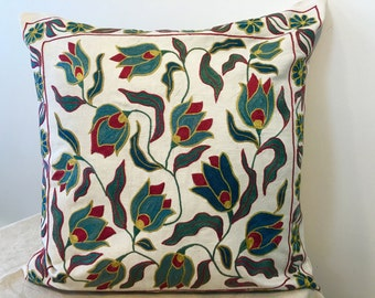 Uzbek suzani pillow cover # 34