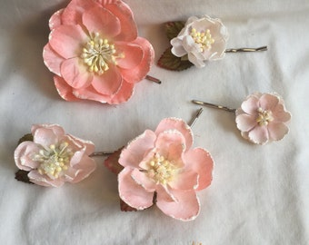 Pink Cherry Blossom Bobby-Pin Collection