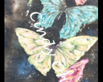 Batik Butterfly Whimsy (Watercolor) by Cindy Ohama