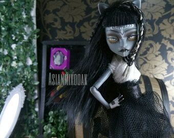 Reserved for aquabliss Custom ooak doll purrsephone by Asianmixooak