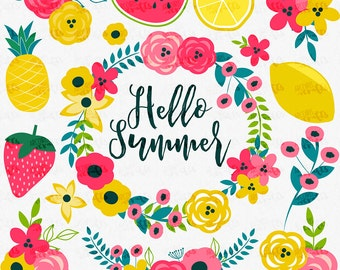 Hello Summer Clip Art Set