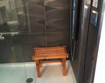 Cicero Cedar Shower Bench