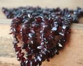 Vintage Wine Garnet vintage woven garnet seed bead necklace/strand/vintage/necklace/bead strand/vintage jewelry by tarnishedhalostudio