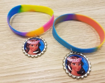 10 Pieces - PRINCESS MOANA  Band Bracelets Party Favors