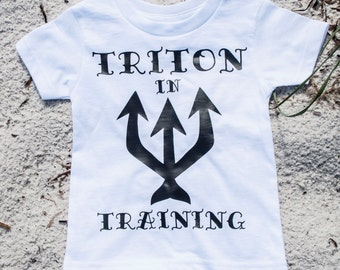 Triton T-Shirt/Merboy T-Shirt/Triton in Training Baby/Toddler/Boys T-Shirt