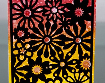 Sunset Floral Card