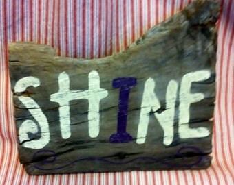 """COUNTRY CUTE!! """"SHINE"""" Barn board Sign"""