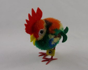 Steiff Wool Rooster, vintage, collectible.
