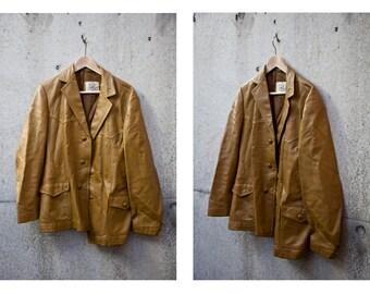 O&S Vass Genuine Mustard Leather Jacket