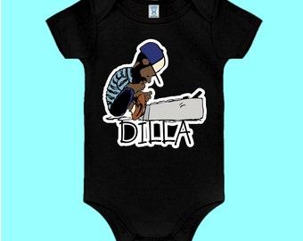 J Dilla Black Onesie Music production Doughnuts Shining Graphic Tee Jay Dee SV Hip-Hop