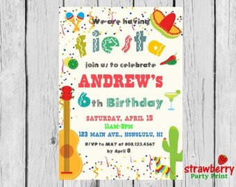 Cinco De Mayo Invite Etsy - Birthday party invitation in spanish