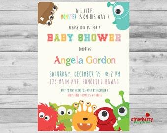 Little Monster Baby Shower Invitation, Monster Baby Shower Invitations, Baby Shower Invite, Monster Shower Invite, Lil Monster Shower
