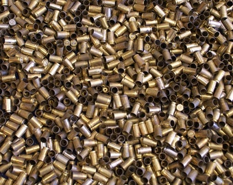 9 MM Once Fired Brass 3000 + pieces. This brass is great for reloading, jewelry making and other crafts.