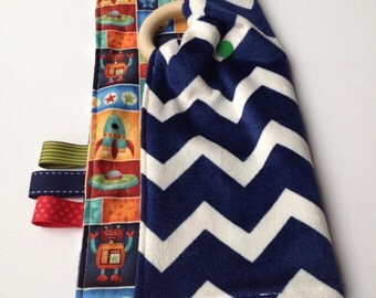 Tag blanket etsy for Space minky fabric