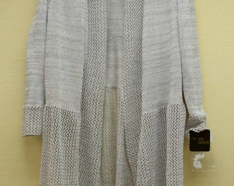 Mesh knit long jacket