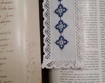 Silver and Blue bookmark