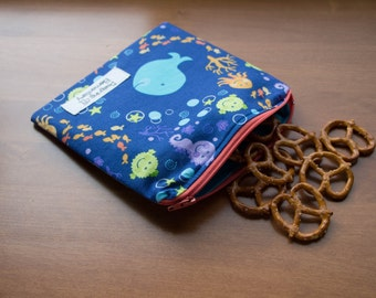 Under the Sea Reusable Snack or Sandwich Bag