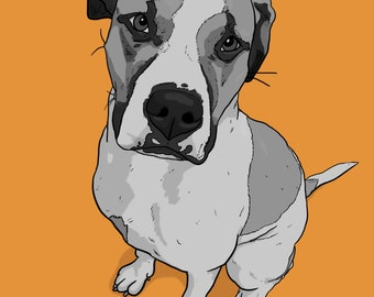 Dog Drawing Canvas Print