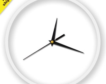 Minimalist white Wall Clock, elegant complement for any room.