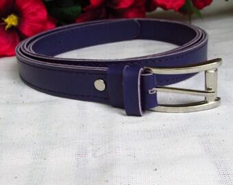 Purple leather belt, women leather belt, Women's belt, 2.5cm width belt, Belt for women, Women Red Belt, Lemon women Belt, Black Belt