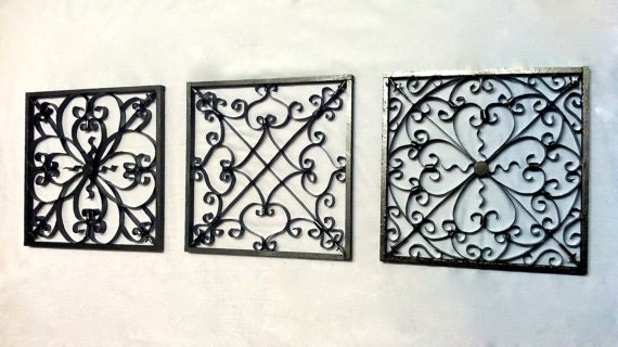 Wrought Iron Style Wall Decor Wall Hanging Wrought Iron Wall