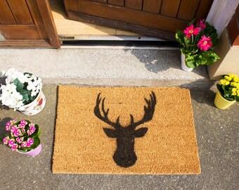 Stags Head doormat - 60x40cm