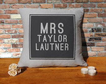 Taylor Lautner Cushion Pillow - Silver Grey - 100% cotton - 16x16 inches