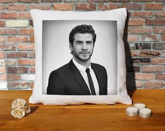 Liam Hemsworth Cushion Pillow - Pop Art - 100% cotton - 16x16 inches