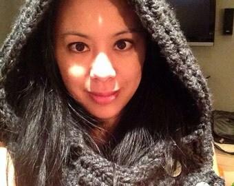 Snood, scarfie, cowl, scarf, hoodie