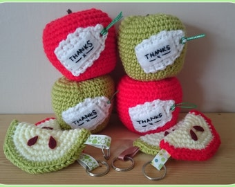 Teachers gift, crochet apple, thank your teacher, end of school gift, apple for teacher