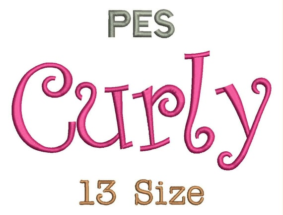 curly embroidery fonts 13 size monogram fonts pes file