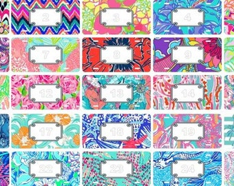 lilly pulitzer inspired scalloped frame aluminum license plate blanks