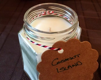 Coconut Island Soy Wax Candle. Free delivery!