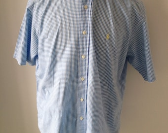 Blue checked Ralph Lauren shirt