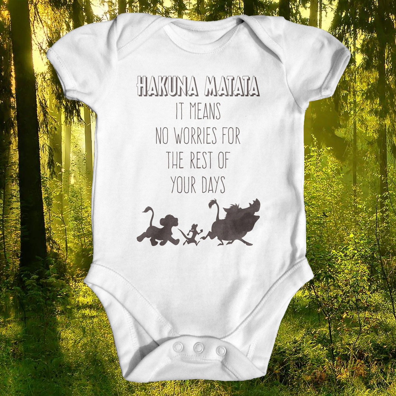 Lion King Hakuna Matata Baby Bodysuit Disney Baby Clothes