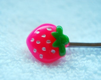 Strawberry Hair Clips - Pack of 2 - Pink