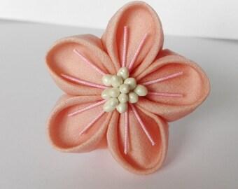 Pastel pink ume kanzahi hairpin