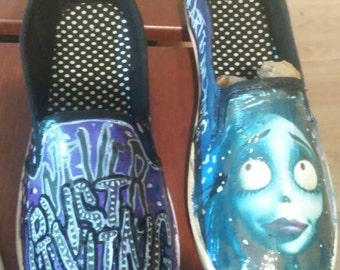 Custom Corpse Bride shoes