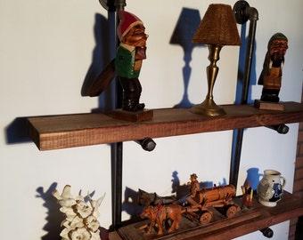 10 inch deep industrial shelves floating by roycesdecorandmore. Black Bedroom Furniture Sets. Home Design Ideas