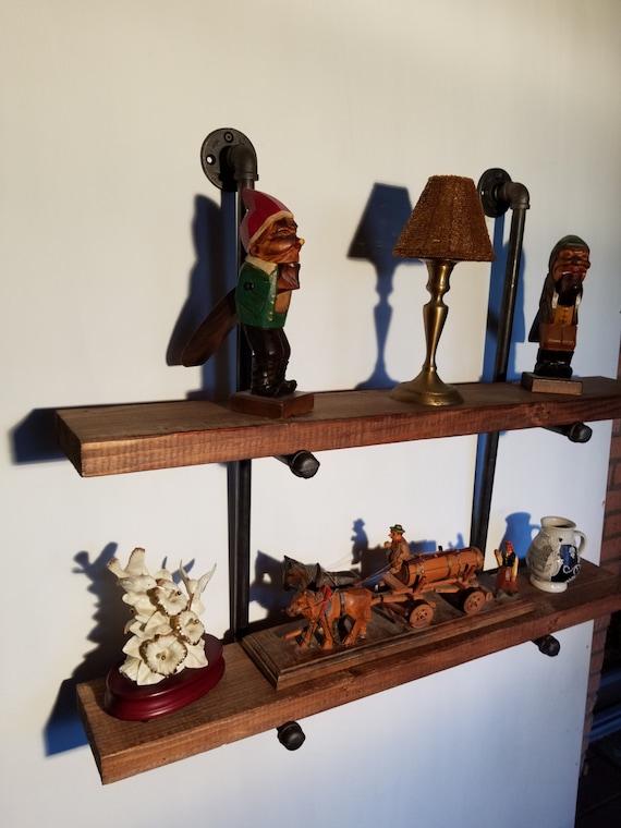 floating shelf 10 inch deep industrial double shelves. Black Bedroom Furniture Sets. Home Design Ideas