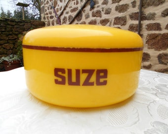 """Vintage French Plastic Cubed """"SUZE"""" Icebucket/Seul a Glace"""