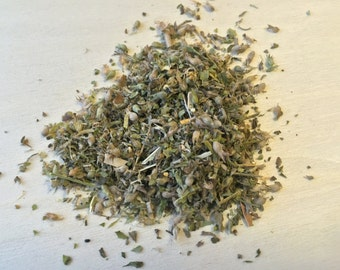 Catnip, leaf and flower, Nepeta cataria, ~Sacred Herbs from Schmerbals Herbals
