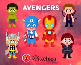 Avengers, Avengers clipart, Avengers print, Superhero clipart, cute superhero, Iron man clipart, Captain america, avengers stickers,