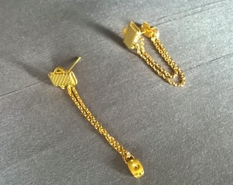 Lafabi silver/gold earrings
